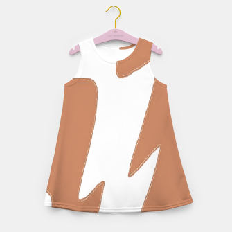 Thumbnail image of Brown and white zigzag Girl's summer dress, Live Heroes