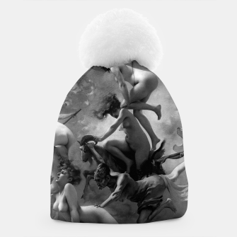 Miniature de image de Witches Going To Their Sabbath by Luis Ricardo Falero Black and White Beanie, Live Heroes