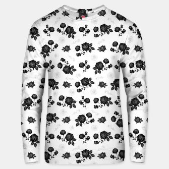 Thumbnail image of B&W Roses - White version Unisex sweater, Live Heroes