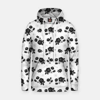Thumbnail image of B&W Roses - White version Hoodie, Live Heroes