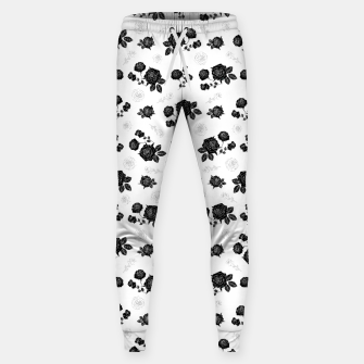 Thumbnail image of B&W Roses - White version Sweatpants, Live Heroes