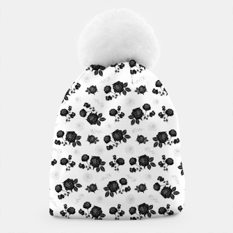 Thumbnail image of B&W Roses - White version Beanie, Live Heroes