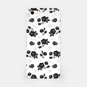 Thumbnail image of B&W Roses - White version iPhone Case, Live Heroes