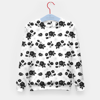 Thumbnail image of B&W Roses - White version Kid's sweater, Live Heroes