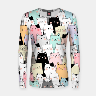 Thumbnail image of Meow Meow Women sweater, Live Heroes
