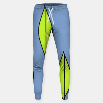Thumbnail image of Green leaves on blue Sweatpants, Live Heroes