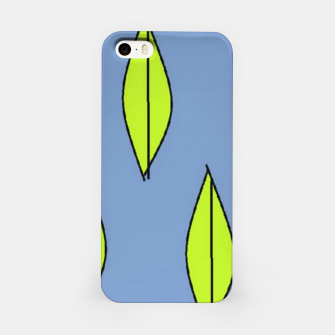 Thumbnail image of Green leaves on blue iPhone Case, Live Heroes