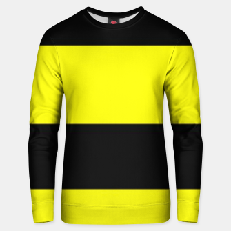 Thumbnail image of Yellow and black stripes Unisex sweater, Live Heroes