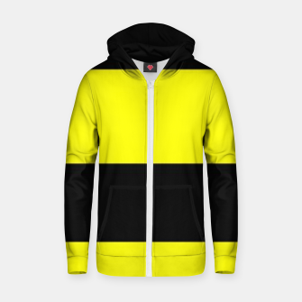 Thumbnail image of Yellow and black stripes Zip up hoodie, Live Heroes