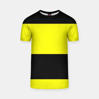 Thumbnail image of Yellow and black stripes T-shirt, Live Heroes