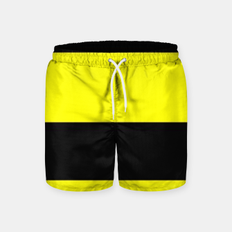 Thumbnail image of Yellow and black stripes Swim Shorts, Live Heroes
