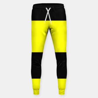 Thumbnail image of Yellow and black stripes Sweatpants, Live Heroes