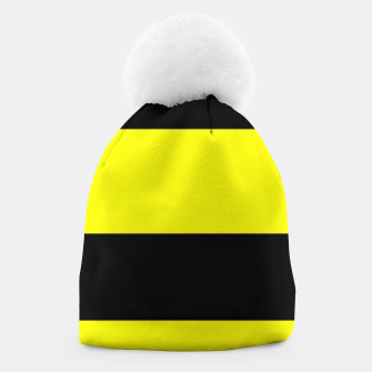 Thumbnail image of Yellow and black stripes Beanie, Live Heroes