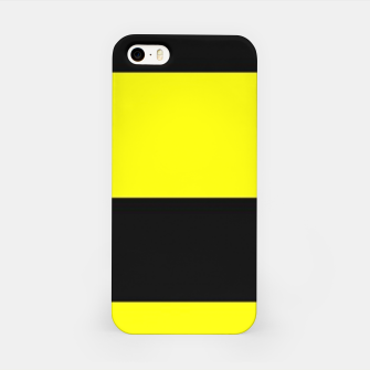 Thumbnail image of Yellow and black stripes iPhone Case, Live Heroes