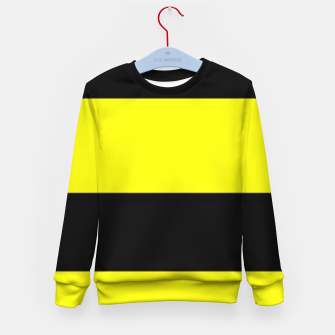 Thumbnail image of Yellow and black stripes Kid's sweater, Live Heroes