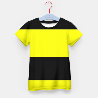 Thumbnail image of Yellow and black stripes Kid's t-shirt, Live Heroes