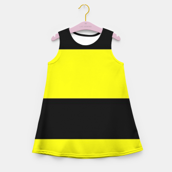 Thumbnail image of Yellow and black stripes Girl's summer dress, Live Heroes