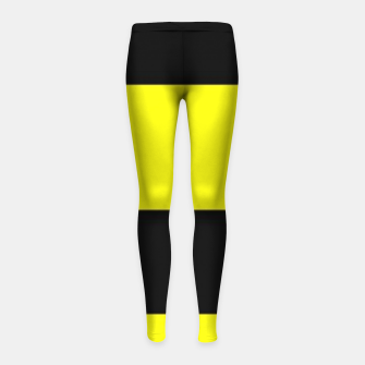 Thumbnail image of Yellow and black stripes Girl's leggings, Live Heroes