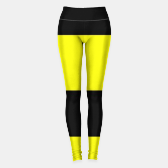 Thumbnail image of Yellow and black stripes Leggings, Live Heroes