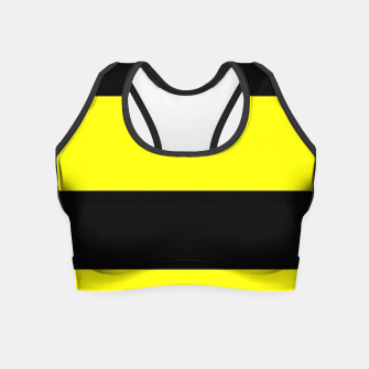 Thumbnail image of Yellow and black stripes Crop Top, Live Heroes