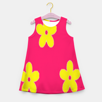 Thumbnail image of Yellow flowers on pink Girl's summer dress, Live Heroes