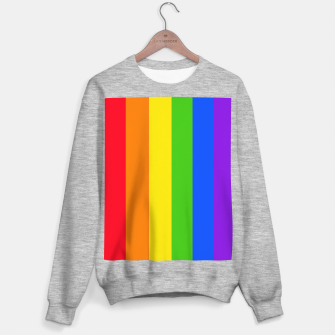 Thumbnail image of Pride Rainbow Flag Sweater, Live Heroes