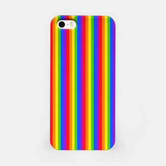 Miniatur Pride Rainbow Tall Thin Lines iPhone Case, Live Heroes