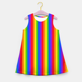 Thumbnail image of Pride Rainbow Tall Thin Lines Girl's summer dress, Live Heroes