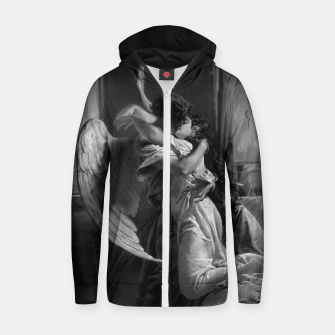 Thumbnail image of Romantic Encounter by Mihaly von Zichy Zip up hoodie, Live Heroes