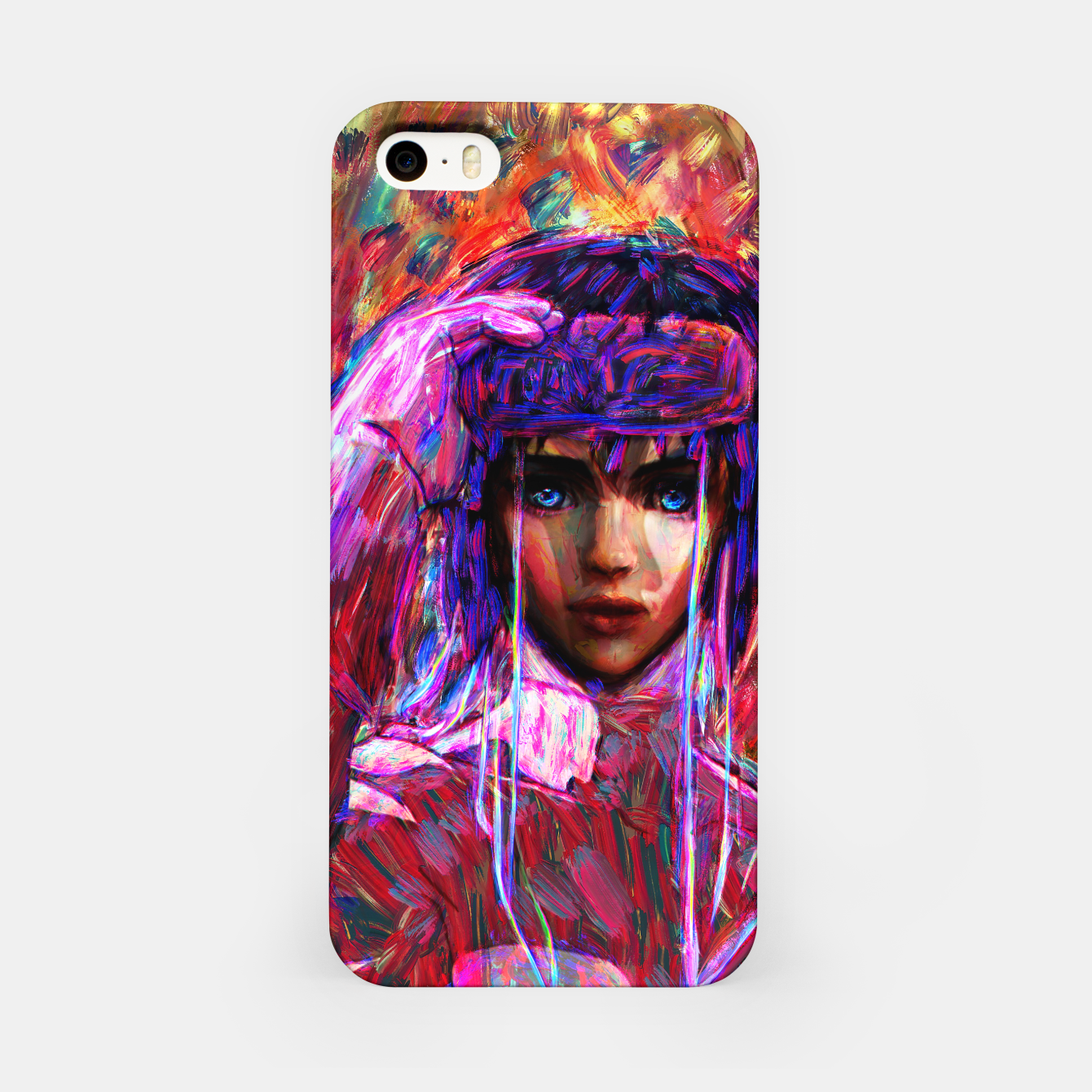 Image of ghost in the shell major iPhone Case - Live Heroes