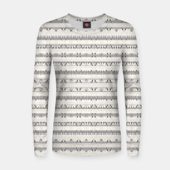 Thumbnail image of Mixed Gray Striped Ethnic Seamless Pattern Women sweater, Live Heroes