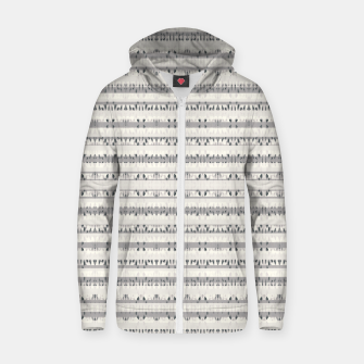 Thumbnail image of Mixed Gray Striped Ethnic Seamless Pattern Zip up hoodie, Live Heroes