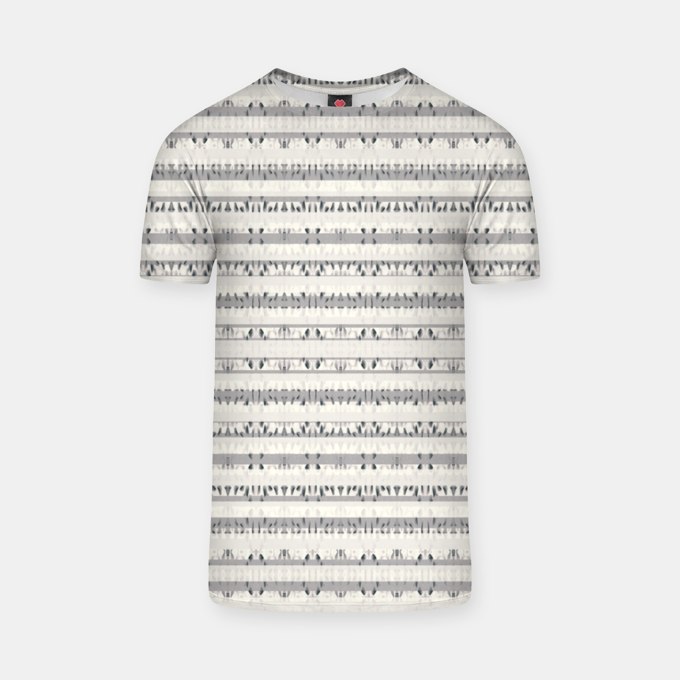 Image of Mixed Gray Striped Ethnic Seamless Pattern T-shirt - Live Heroes