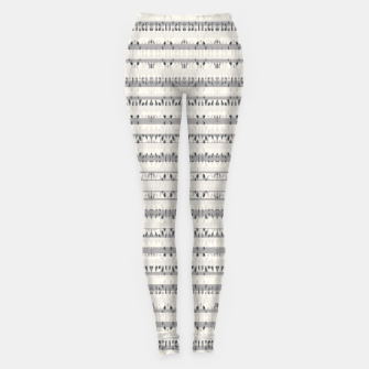 Thumbnail image of Mixed Gray Striped Ethnic Seamless Pattern Leggings, Live Heroes