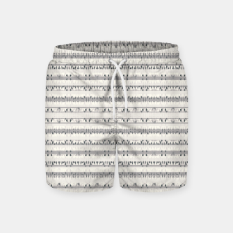 Thumbnail image of Mixed Gray Striped Ethnic Seamless Pattern Swim Shorts, Live Heroes