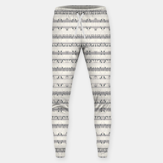 Thumbnail image of Mixed Gray Striped Ethnic Seamless Pattern Sweatpants, Live Heroes