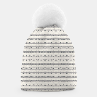 Thumbnail image of Mixed Gray Striped Ethnic Seamless Pattern Beanie, Live Heroes