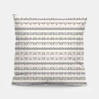 Thumbnail image of Mixed Gray Striped Ethnic Seamless Pattern Pillow, Live Heroes