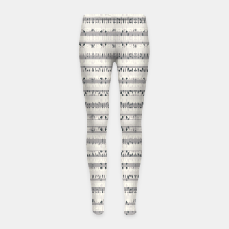 Thumbnail image of Mixed Gray Striped Ethnic Seamless Pattern Girl's leggings, Live Heroes
