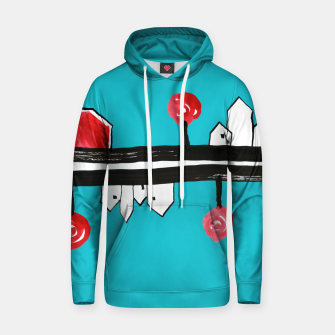 """Thumbnail image of Little Village by the Road on Light Blue """"Paper Drawings/Paintings""""  Hoodie, Live Heroes"""