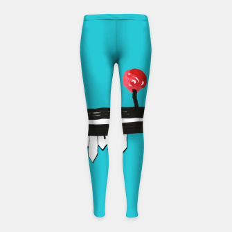 """Thumbnail image of Little Village by the Road on Light Blue """"Paper Drawings/Paintings""""  Girl's leggings, Live Heroes"""