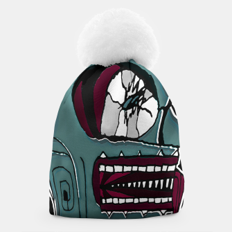 Thumbnail image of Colored Creepy Man Portrait Illustration Beanie, Live Heroes