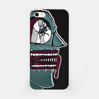 Thumbnail image of Colored Creepy Man Portrait Illustration iPhone Case, Live Heroes