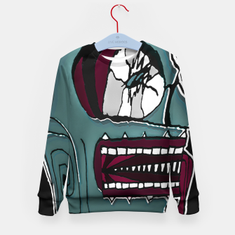 Thumbnail image of Colored Creepy Man Portrait Illustration Kid's sweater, Live Heroes
