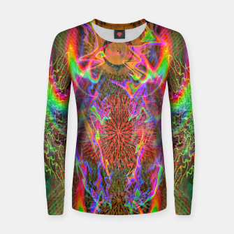 Thumbnail image of Kundalini Fired Up (psychedelic art, rainbow, fire) Women sweater, Live Heroes