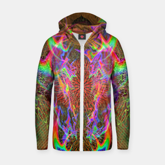 Thumbnail image of Kundalini Fired Up (psychedelic art, rainbow, fire) Zip up hoodie, Live Heroes