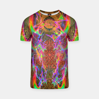 Thumbnail image of Kundalini Fired Up (psychedelic art, rainbow, fire) T-shirt, Live Heroes