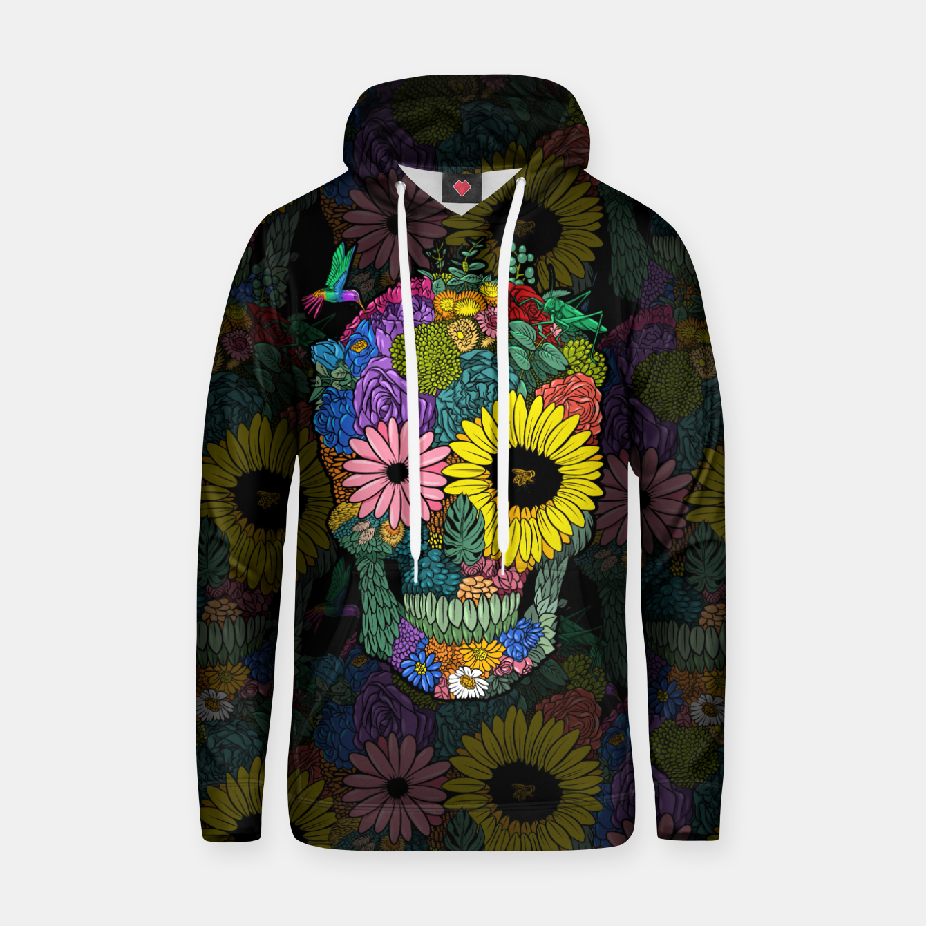 Image of skull flower color Sudadera con capucha - Live Heroes