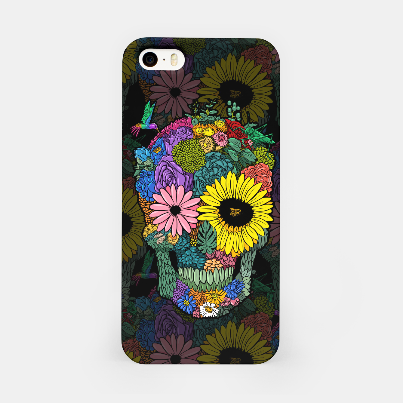Image of skull flower color Carcasa por Iphone - Live Heroes
