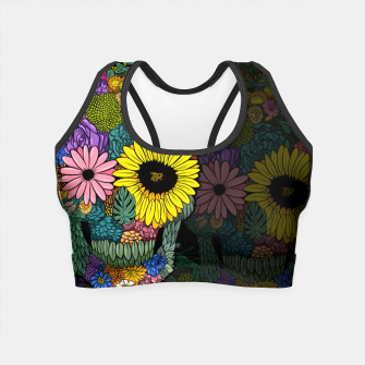 Thumbnail image of skull flower color Crop Top, Live Heroes